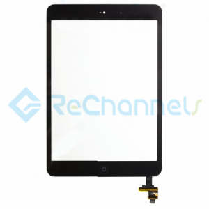 For Apple iPad Mini 1/Mini 2 Digitizer Touch Screen Assembly with IC Board Replacement - Black - Grade S