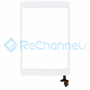 For Apple iPad Mini 1/Mini 2 Digitizer Touch Screen Assembly with IC Board Replacement - White - Grade R