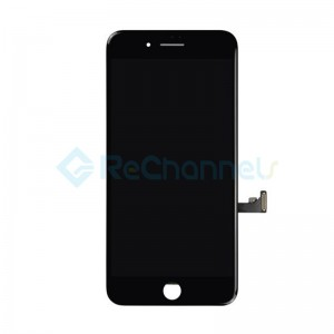 For Apple iPhone 7 LCD Screen and Digitizer Assembly Replacement - Black - Grade S+