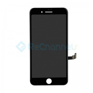 For Apple iPhone 8 Plus LCD Screen and Digitizer Assembly with Frame Replacement - Black - Grade S
