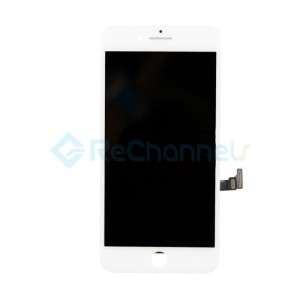 For Apple iPhone 8 Plus LCD Screen and Digitizer Assembly with Frame Replacement - White - Grade S+