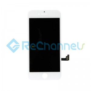 For Apple iPhone 8  LCD Screen and Digitizer Assembly with Front Housing Replacement - White - Grade S