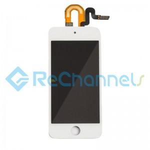 For Apple iPod Touch 5th / 6th Gen LCD Screen and Digitizer Assembly with Frame Replacement - White - Grade S+