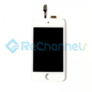 For Apple iPod Touch 4 LCD Screen and Digitizer Assembly with Frame Replacement - White - Grade S