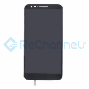 For LG G2 LCD Screen and Digitizer Assembly with Front Housing Replacement - Black - Grade S+