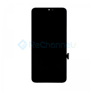 For LG G7 ThinQ LCD Screen and Digitizer Assembly with Front Housing Replacement - Black - Grade S+