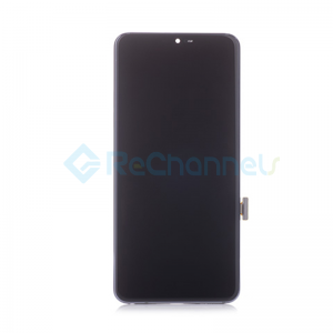 For LG G7 ThinQ LCD Screen and Digitizer Assembly with Front Housing Replacement - Gray - Grade S+