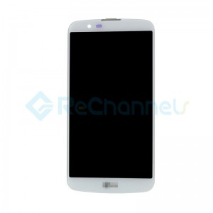 For LG K10 LCD Screen and Digitizer Assembly with Front Housing Replacement(without Small Parts) - White - Grade S+
