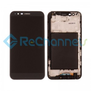 For LG Stylo 3 Plus LG-M470 LCD Screen and Digitizer Assembly with Front Housing Replacement - Black - Grade S+