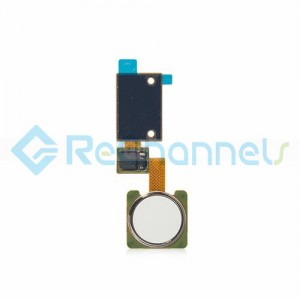 For LG V10 Finger Print Sensor Flex Cable Ribbon Replacement - White - Grade S+