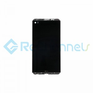 For LG V20 LCD Screen and Digitizer Assembly with Front Housing Replacement (Without Small Parts) - Black - Grade S+