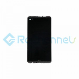 For LG V20 LCD Screen and Digitizer Assembly with Front Housing Replacement (Without Small Parts) - Black - Grade S