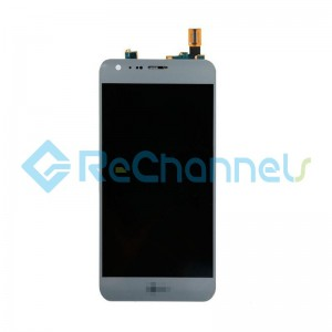 For LG X CAM K580 LCD Screen and Digitizer Assembly Replacement - Titan Silver - Grade S+