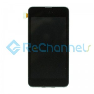 For Nokia Lumia 530 LCD Screen and Digitizer Assembly with Front Housing Replacement - Black - Grade S