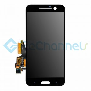 For HTC 10 LCD Screen and Digitizer Assembly Replacement - Black - Grade S+