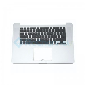 """For MacBook Pro 15"""" A1707 (Late 2016 - Mid 2017) Top Case + Keyboard (US English) Replacement - Silver - Grade S+"""
