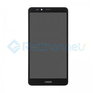 For Huawei Ascend Mate7 LCD Screen and Digitizer Assembly with Front Housing Replacement - Black - Grade S