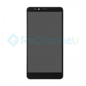 For Huawei Ascend Mate 7 LCD Screen and Digitizer Assembly with Front Housing Replacement - Black- Grade S+