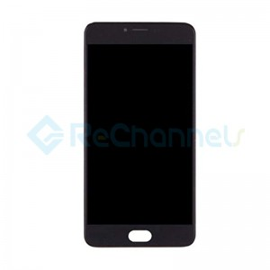 For MEIZU M3 Note LCD Screen and Digitizer Assembly with Front Housing Replacement - Black - Grade S+