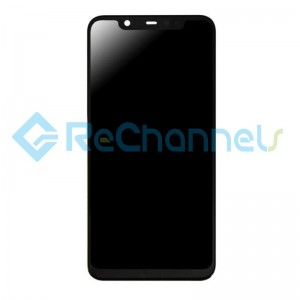 For Xiaomi Mi 8 LCD Screen and Digitizer Assembly with Front Housing Replacement - Black - Grade S+