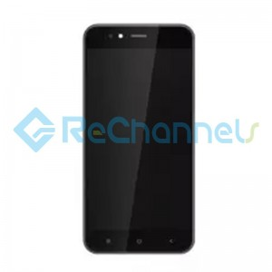 For Xiaomi Mi A1 LCD Screen and Digitizer Assembly with Front Housing Replacement - Black - Grade S
