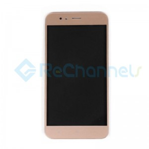 For Xiaomi Mi A1 LCD Screen and Digitizer Assembly with Front Housing Replacement - Gold - Grade S