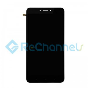For Xiaomi Mi Max 2 LCD Screen and Digitizer Assembly with Front Housing Replacement - Black - Grade S