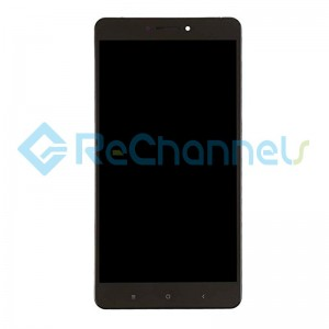 For Xiaomi Mi Max LCD Screen and Digitizer Assembly with Front Housing Replacement - Black - Grade S