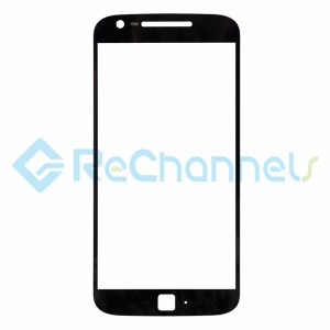 For Motorola Moto G4 Plus Glass Lens Replacement - Black - Grade R