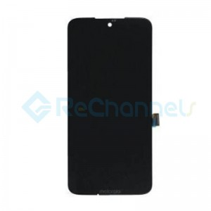 For Motorola G7 LCD Screen and Digitizer Assembly Replacement - Black - Grade S+