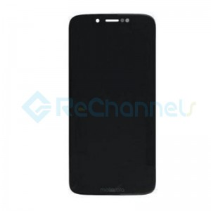 For Motorola G7 Play LCD Screen and Digitizer Assembly Replacement - Black - Grade S+