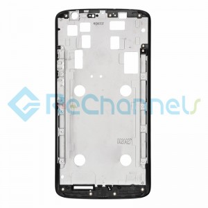 For Motorola Moto X Play Front Housing Replacement - Black - Grade S+