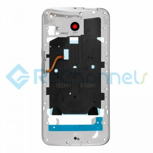 For Motorola Moto X Style Middle Plate Replacement - Silver - Grade S+