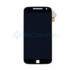 For Motorola Moto G4 Plus LCD Screen and Digitizer Assembly Replacement - Black - Grade S+