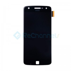For Motorola Moto Z Play LCD Screen and Digitizer Assembly Replacement - Black - Grade S+