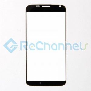 For Motorola Moto X Glass Lens Replacement - Black - Grade R
