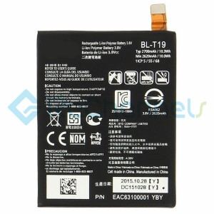 For LG Nexus 5X Battery Replacement - Grade S+