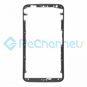 For Motorola Nexus 6 Front Housing Replacement(Without Adhesive) - Black - Grade S+