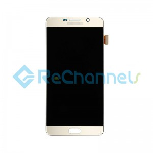 For Samsung Galaxy Note 5 Series LCD and Digitizer Assembly with Stylus Sensor Film Replacement - Gold - Grade S