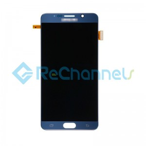 For Samsung Galaxy Note 5 Series LCD and Digitizer Assembly with Stylus Sensor Film Replacement - Black Sapphire - Grade S