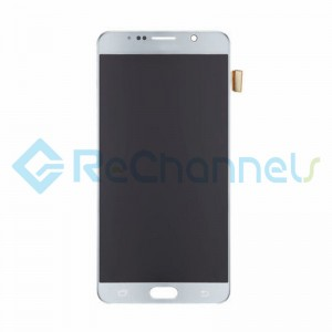 For Samsung Galaxy Note 5 Series LCD and Digitizer Assembly with Stylus Sensor Film - Silver - Grade S+