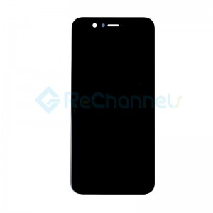 For Huawei Nova 2 LCD Screen and Digitizer Assembly with Front Housing Replacement - Black - Grade S