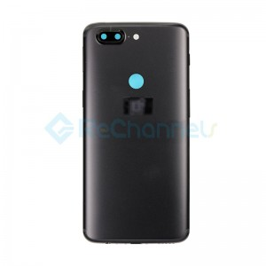 For OnePlus 5T Rear Housing Replacement - Midnight Black - Grade S+