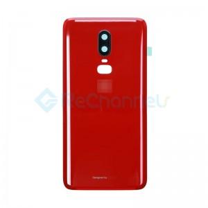 For OnePlus 6 Battery Door Replacement - Red -Grade S+