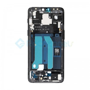 For OnePlus 6 Front Housing Replacement - Mirror Black - Grade S+