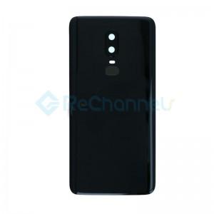 For OnePlus 6 Battery Door Replacement - Mirror Black - Grade S+