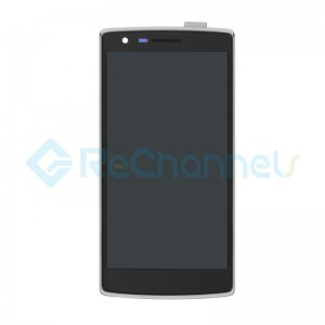 For OnePlus One LCD Screen and Digitizer Assembly with Front Housing Replacement - Black - Grade S+