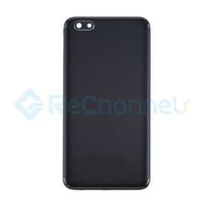 For OPPO A77 Battery Door Replacement - Black - Grade S+