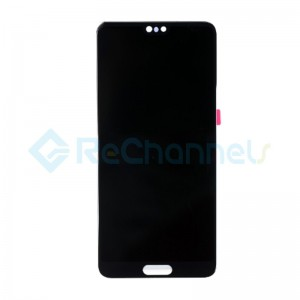 For Huawei P20 LCD Screen and Digitizer Assembly Replacement - Black - Grade S+