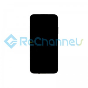 For Huawei P40 Lite LCD Screen and Digitizer Assembly with Front Housing Replacement - Black - Grade S+
